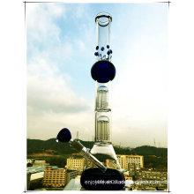 Hb-K36 2 * 8 Base del árbol de brazo Beaker Perc Esfera de vidrio forma de fumar Pipa de agua