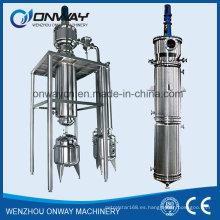 Tfe Destilador de película fina agitada de alta eficiencia Distillador Equipo de destilación de vacío Desalinizador rotativo Destilación de aceite