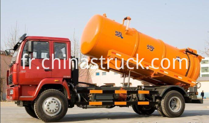 Waste water suction tank truck