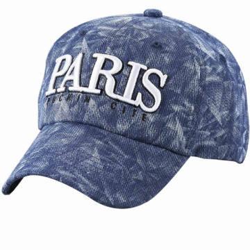 Gorra de béisbol tejida piedra del dril de algodón con el logotipo personalizado del bordado