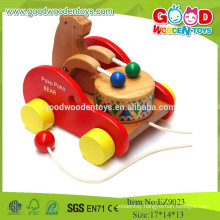 Super High Quality Wooden Hot Selling Poko Poko Bear Drum, Kids Music Toys