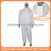 Disposable breathable microporous PU film coverall