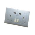 Dual UK USB Wall Socket With Surge Protection