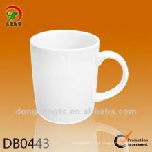 Novo produto 250cc xícara de café de cerâmica branca pequena