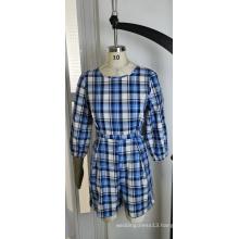 Blue Plaid Jumpsuit For Summer Fashion Ladies
