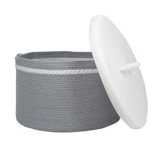 cotton rope basket kids toy storage baskets lids