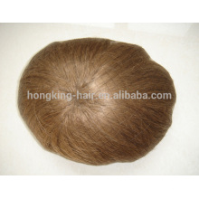 Indian remy 6 inch hair full swiss/french lace base toupee