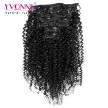 100% brésilien Remy pince à cheveux humains dans l'extension de cheveux