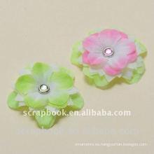 Flores de tela artesanales