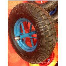 Roda pneumática de cor preta com alta qualidade