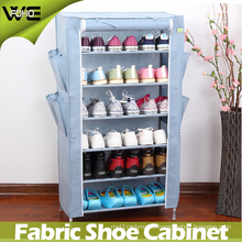 Multilayer Metal Folding Combination Fabric Ventilation Shoe Cabinet