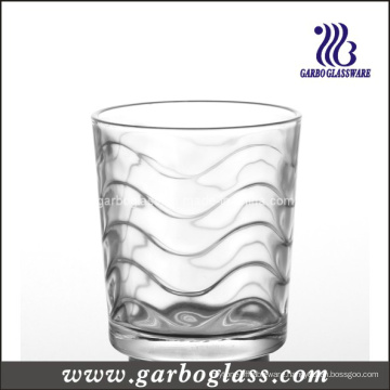 Waved Clear Water Glass Cup