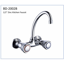 Bd2002b Zinc Double Knobs Kitchen Faucet