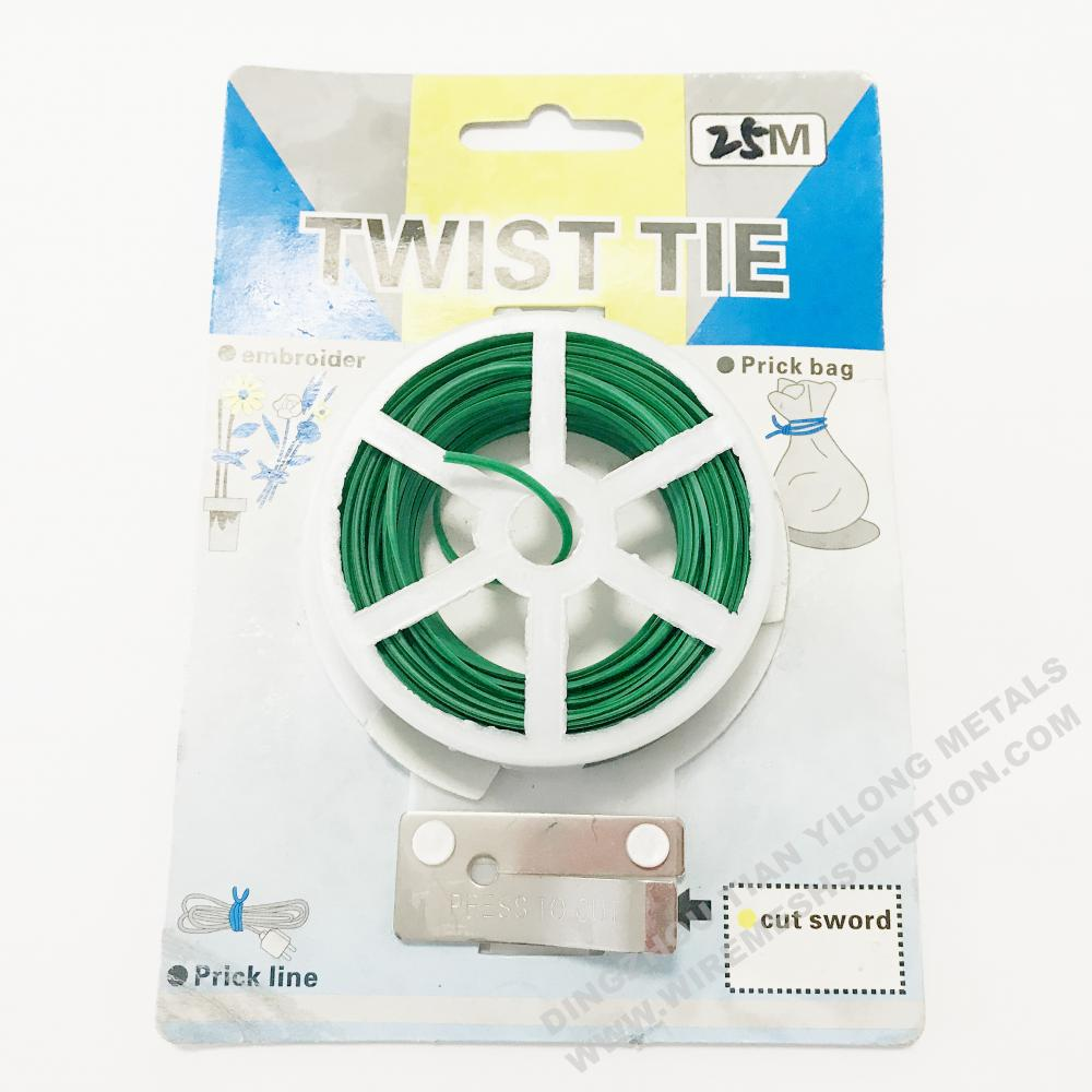 Garden Plant Green Twist Tie Wire 50m
