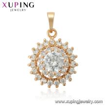 33765 xuping sun shape flower Três camadas moda novo design pingente de ouro