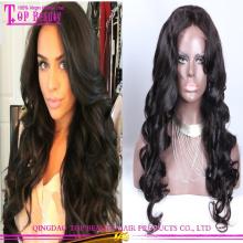 Wholesale cheap fashionable long honey blonde human hair full lace wig