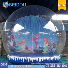 Factory Wholesale Durable PVC Christmas Photo Human Inflatable Snow Globe