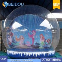 Фабрика оптовый Прочный ПВХ рождественские фото человека надувной глобус снега