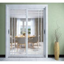 Portas deslizantes de estilo holandês de alumínio nova chegada com design de grelha