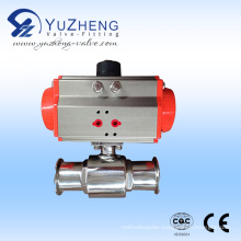 Pneumatic Clamp Direct Way Ball Valve