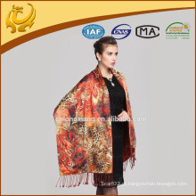 Elegante Pashmina Shawl Cachecóis Atacado Stoles Indian Girls Cachecóis de estilo novo Double Layers Stole Shawls Wholesale