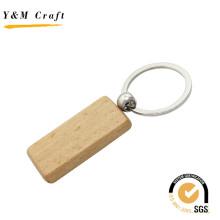 Rectángulo de madera llavero con alta calidad