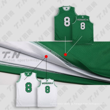 Healong 100% Polyester Cheap Reversible Basketball Uniforms