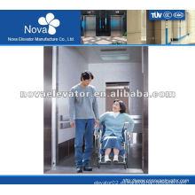 Elevador de acero inoxidable para el paciente, carga grande