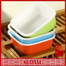 Cerámica ronda roja hornear ware con tapa de silicona caja de almuerzo taquilla bowl tazón de fideos japoneses