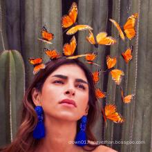 Fancy Yellow Butterfly Fascinator For Ladies Women