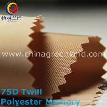 100% полиэфирная 75D ткань для саржевого материала для одежды (GLLML207)