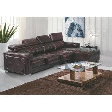 Nuevo modelo de sofá de cuero, sofá moderno reclinable L de la forma (GB01)
