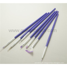 Private Label Plastic Handle Paint Nail Brush Kits