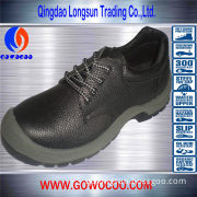 Best Selling Leather Steel Toe Safety Shoes (GWPU-1001)