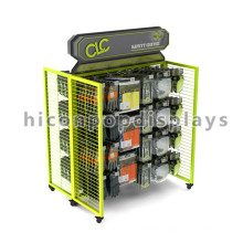 Practical 4-Way Free Standing Wire Grid Retail Shop Movable Hanging Scarf And Gloves Display Rack