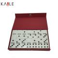 Ensemble Domino Double 6 en Acrylique avec Boîte en PVC