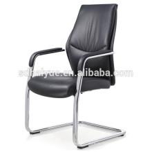 Китай сделал черный совещании ПУ стул с металлическими подлокотниками