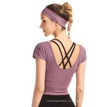 Running Activewear Sports Workout Camisetas de tirantes