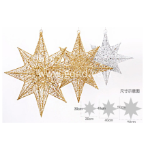 Christmas Polygonal metal star decorations indoor ornament