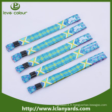 Serre-bracelet en tissu à base de polyester personnalisé pour événement