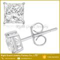 Pendientes Cubic Zirconia de acero quirúrgico 316L