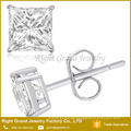 316L Surgical Stainless Steel Cubic Zirconia Earrings