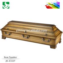 hot sale solid pine coffin box