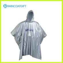 Reutilizable con capucha ligero blanco EVA Rain Poncho