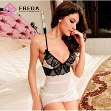 Leading for Lace Nightdress,Sexy Wedding Lingerie,Women'S Sexy Chemises,Sexy Lace Lingerie Wholesale From China The Stretch Lace Adjustable String Babydoll Lingerie Dress export to Netherlands Manufacturers