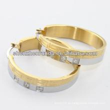 China fabricante, 2014 anillo de aro de acero inoxidable con cristal, joyería de moda