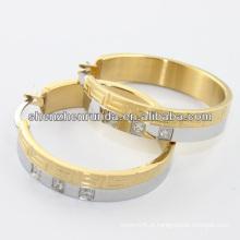 China fabricante, 2014 aço inoxidável hoop anel com cristal, moda jóias