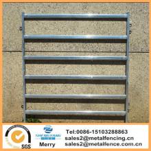 6 rails ovales ronds en métal galvanisé