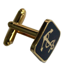 Free Mold Zinc Alloy Sqaure Gold Plating Cufflink