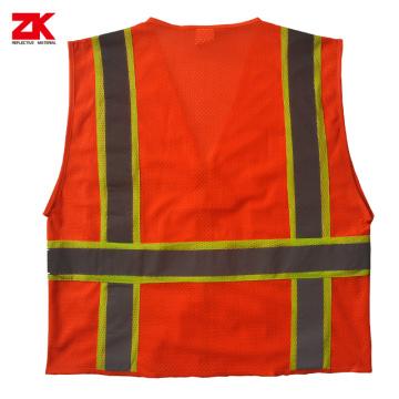 Örgü kumaşı Yüksek görünür güvenlik kıyafetleri